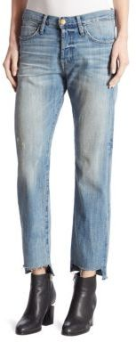 Current/Elliott The Crossover Cropped Step Hem Jeans $248 thestylecure.com