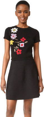 RED Valentino Floral Intarsia Dress $695 thestylecure.com