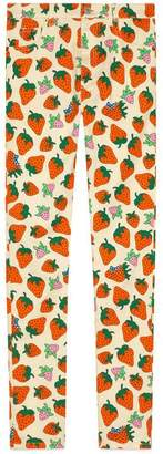Gucci Skinny trousers with Strawberry print