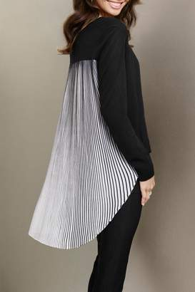Katherine Barclay Pleated Swing Sweater $134 thestylecure.com