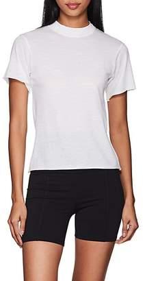 "Live the PROCESS Women's ""Boy Tee"" Cotton-Cashmere T-Shirt - White"