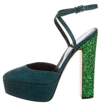 Sergio Rossi Metallic Sandals w/ Tags