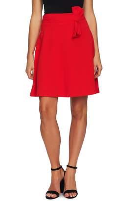 CeCe Bow Detail Moss Crepe Skirt