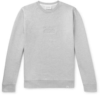 Norse Projects Vagn Logo-Embroidered Loopback Melange Cotton-Jersey Sweatshirt - Men - Gray