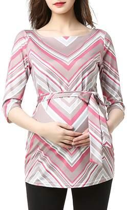 Kimi and Kai Delia Chevron Maternity Top