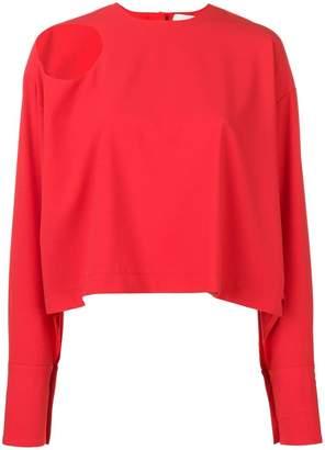 Awake shoulder cut-out detail blouse