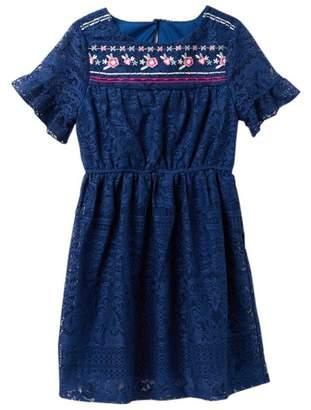 Trixxi Embroidered Lace Dress (Big Girls)