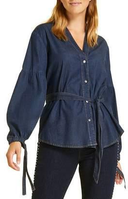 Marina Rinaldi Plus Size Balsamo Denim Shirt