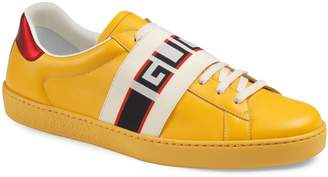 Gucci New Ace Stripe Leather Sneaker
