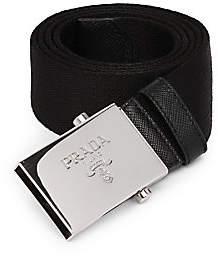 Prada Men's Nastro Logo-Engraved Nylon Belt
