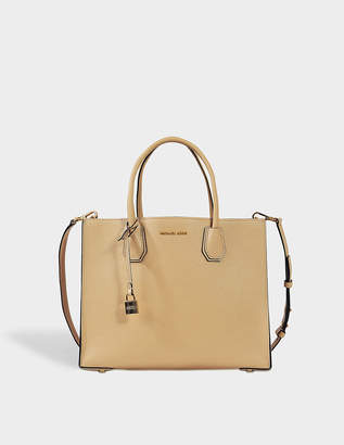 MICHAEL Michael Kors Mercer Large Convertible Tote Bag in Oyster Mercer Pebbled Leather