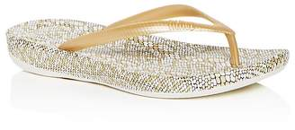 FitFlop Women's iQushion Snake Print Flip-Flops