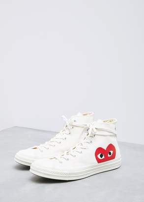 Comme des Garcons High Top Converse Chuck Taylor in Beige