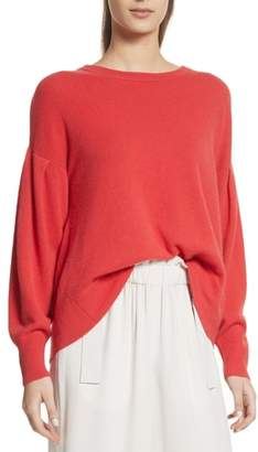 Vince Pleat Sleeve Cashmere Sweater