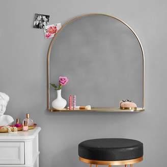 Pottery Barn Teen Half Round Mirror with Ledge