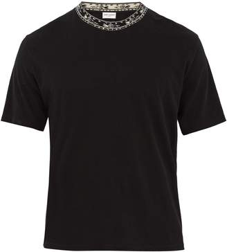 Saint Laurent Geometric crew-neck T-shirt