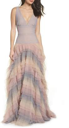 Bronx AND BANCO Amelia Tier Ruffle Gown