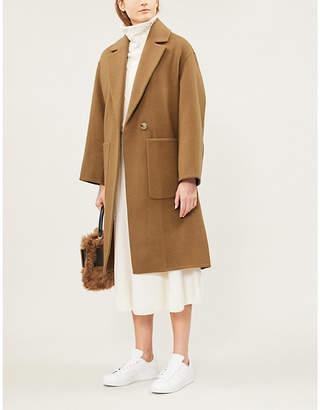 Vince Single-breasted wool-blend coat