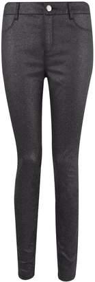 Dorothy Perkins Womens Black Glitter 'Frankie' Super Skinny Jeans