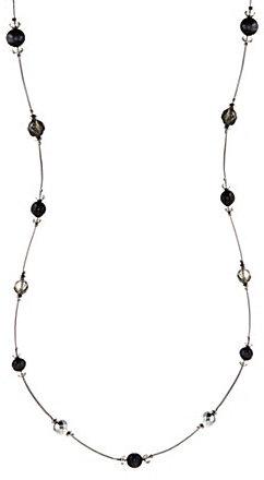 Dillard ́s Sensitive Skin Long Jet-Beaded Station Necklace