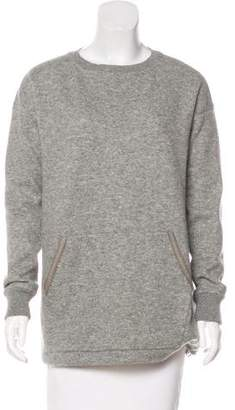 Loro Piana Leather-Trimmed Cashmere Sweatshirt