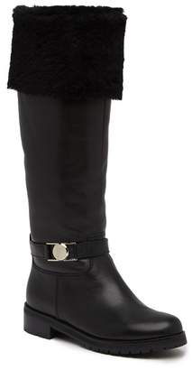 Versace Genuine Fox Fur Cuff Boot
