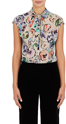 Giorgio Armani Women's Watercolor-Flower-Print Silk Blouse $1,495 thestylecure.com