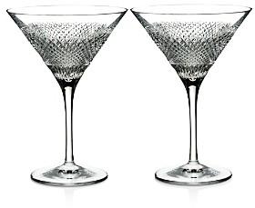 Diamond Line Martini Glasses, Set of 2