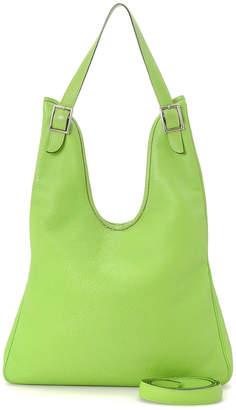 Hermes Lime Green Massai PM Shoulder Bag - Vintage