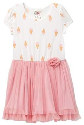 Jenna & Jessie Cap Sleeve Tulle Dress (Little Girls)