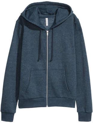 H&M Hooded Sweatshirt Jacket - Blue