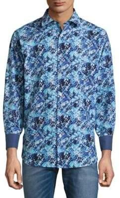 Bugatchi Classic Woven Cotton Button-Down Shirt