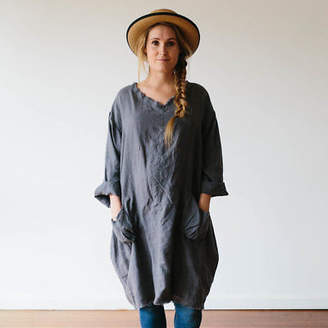 Bedtonic Pure Linen Bedding + Loungewear NEW Pure French Linen Poet's Sister Tunic (Various Colours) by Bedtonic Pure Lin