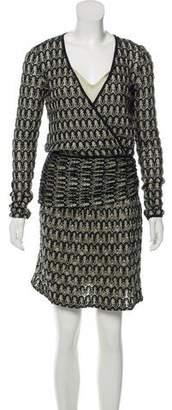 Missoni Knit Embellished Knee-Length Dress