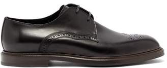 Dolce & Gabbana Wingtip Leather Derby Shoes - Mens - Black