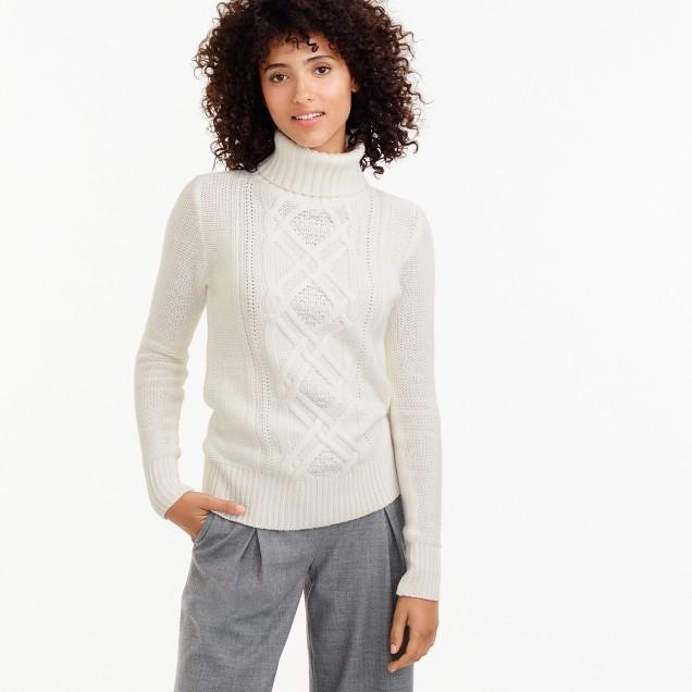 J.CrewCambridge cable turtleneck sweater