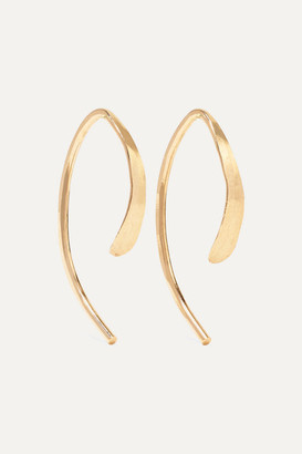 Melissa Joy Manning Wishbone 14-karat Gold Earrings - one size