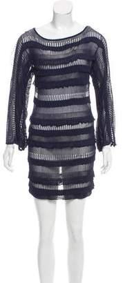 Adam Semi-Sheer Knit Dress