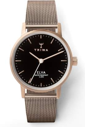 Triwa Elva Mesh Strap Watch, 28mm