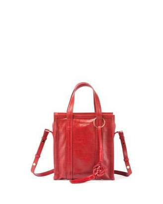 Balenciaga Bazar Chinese New Year Extra-Small Tote Bag, Red (Rouge Groseille) $1,395 thestylecure.com