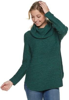 It's Our Time Its Our Time Juniors' Cowl Neck Tunic Sweater