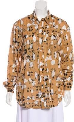 Rachel Comey Abstract Print Button-Up Top