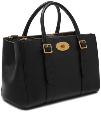 Mulberry Bayswater Double Zip Leather Satchel - Black $2,050 thestylecure.com
