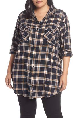 Sanctuary Main Street Cotton Blend Boyfriend Tunic