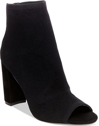 Steven By Steve Madden Women's Acko Peep-Toe Ankle Booties Women's Shoes $159 thestylecure.com