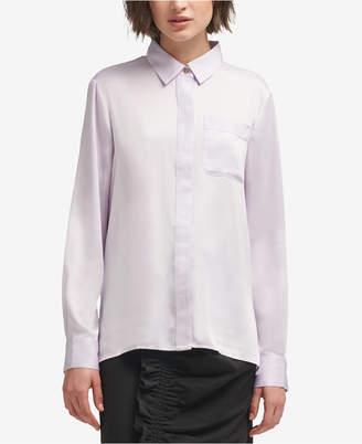 DKNY (ディー ケー エヌワイ) - Dkny Pocket Button-Front Shirt, Created for Macy's
