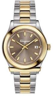Salvatore Ferragamo 1898 Three-Hand Two-Tone Stainless Steel Bracelet Watch