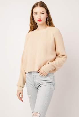 Azalea Boxy Cropped Knit Sweater