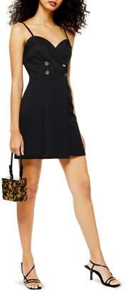 Topshop Strap Tux Mini Dress