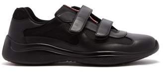 Prada Americas Cup Velcro Strap Trainers - Mens - Black